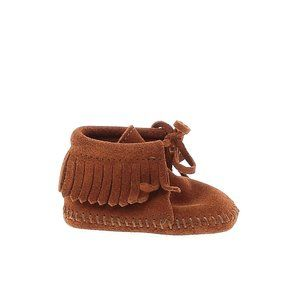 Minnetonka 100% Leather Moccasins Booties